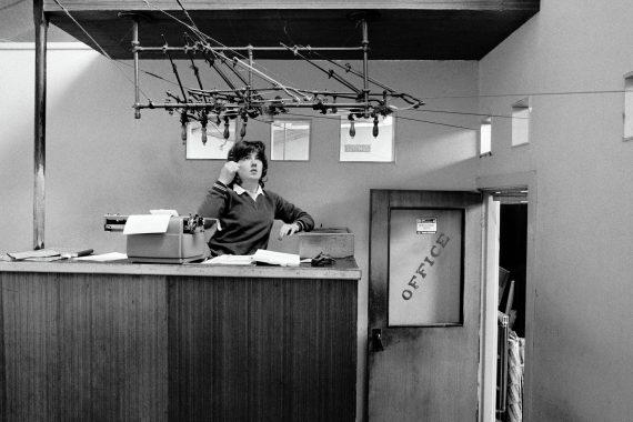 IRELAND. Castlerea. County Roscommon. E. J. McDermot Ltd. Cash Railway Terminal. Denise Hart. 1983.